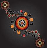 Inheemse kunst vectorachtergrond Royalty-vrije Stock Afbeeldingen