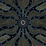 Inheemse kunst vectorachtergrond Stock Fotografie
