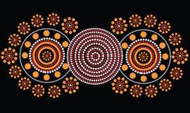 Inheemse kunst vectorachtergrond Stock Afbeelding