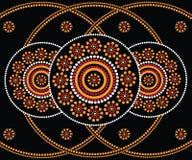 Inheemse kunst vectorachtergrond Royalty-vrije Stock Foto's