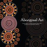 Inheemse kunstbanner Vectorbanner met tekst Stock Foto