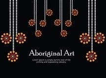 Inheemse kunstbanner Vectorbanner met tekst Royalty-vrije Stock Fotografie