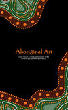 Inheemse kunstbanner Vectorbanner met tekst Stock Afbeelding