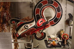 Inheemse kunstvertoning bij Museum van Antropologie stock afbeeldingen