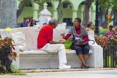 Inheemse mensen in Caraïbische Havana Cuba, royalty-vrije stock foto's