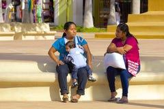 Inheemse mensen in Cozumel, Caraïbisch Mexico, stock afbeeldingen
