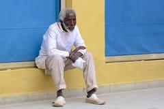 Inheemse mensen in Havana, Cuba royalty-vrije stock afbeelding