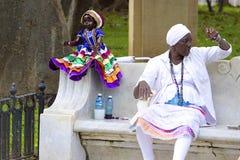 Inheemse mensen in Havana, Cuba stock afbeelding