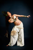 Inheemse primitieve vrouw royalty-vrije stock afbeelding