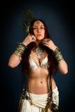 Inheemse primitieve vrouw royalty-vrije stock foto