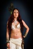 Inheemse primitieve vrouw royalty-vrije stock foto's