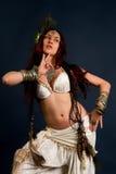 Inheemse primitieve vrouw royalty-vrije stock fotografie