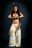 Inheemse primitieve vrouw stock afbeeldingen
