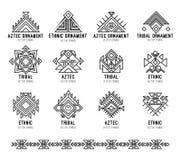 Inheemse stammenpictogramreeks Stock Afbeeldingen