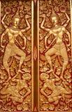 Inheemse Thaise stijlgravure Stock Afbeeldingen