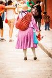 Inheemse traditionele verkopers bij San Miguel Royalty-vrije Stock Afbeeldingen