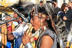 Inheemse Zuidamerikaanse muziek Royalty-vrije Stock Foto's