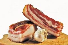 Inhemsk bacon med vitlök Arkivbild