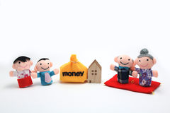 Inheritance. Elderly parents give their property to thier son and daughter before die Stock Images