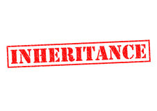 INHERITANCE. Red Rubber stamp over a white background Stock Photo