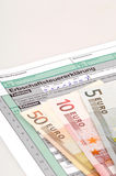 Inheritance tax. Tax form for the German inheritance tax ready to complete Stock Photos