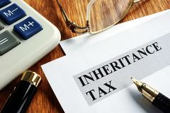 Inheritance tax application form stock images
