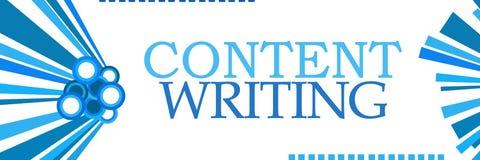 Inhoud die Blauwe Horizontale Grafiek schrijven stock illustratie