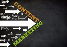Inhoud Marketing royalty-vrije illustratie