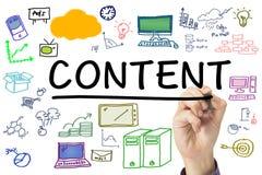 Inhoud Marketing vector illustratie