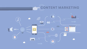 Inhoud Marketing achtergrond royalty-vrije illustratie