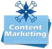 Inhoud Marketing Bodemvierkanten Royalty-vrije Stock Fotografie