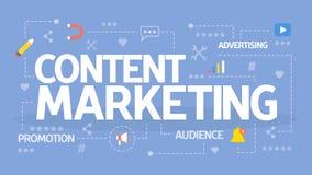 Inhoud Marketing Concept vector illustratie