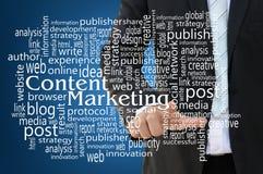 Inhoud Marketing Concept Royalty-vrije Stock Afbeelding
