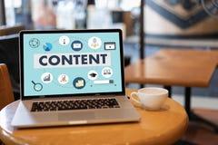 inhoud marketing de Media van Blogging van Inhoudsgegevens de Publicatie informeert royalty-vrije stock afbeelding