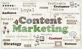 Inhoud Marketing Illustratie stock illustratie