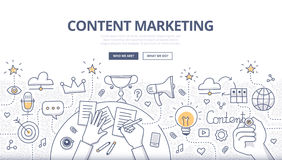 Inhoud Marketing Krabbelconcept Royalty-vrije Stock Foto's