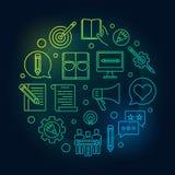 Inhoud Marketing om heldere vectorlijnillustratie vector illustratie