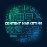 Inhoud Marketing om vector gekleurde illustratie vector illustratie