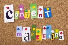 Inhoud Marketing seoconcept Royalty-vrije Stock Fotografie
