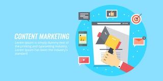 Inhoud marketing, strategie, inhoudsdistributie en publicatieconcept Stock Foto