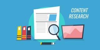 Inhoudsonderzoek en ontwikkeling Gegevensanalyse voor nieuwe inhoudsverwezenlijking Royalty-vrije Stock Afbeelding