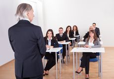Inhouse business training in a corporation Stock Photos