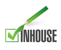 Inhouse checkmark illustration design Royalty Free Stock Images