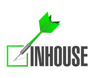Inhouse dart check mark Stock Images
