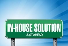 Inhouse road sign illustration design Royalty Free Stock Image