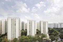 Inhysa för Singapore lägenhet Arkivbild