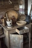 Inhysa museet, historisk ryss som förlägga i barack i vilken var födda Chapaev Royaltyfria Foton