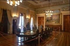 Inhyser ministeriellt rum för den Catete slotten, den tidigare presidentpalatset nu republikmuseet - Rio de Janeiro, Brasilien fotografering för bildbyråer