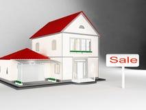 Inhyser till salu, Real Estate Arkivfoto