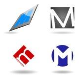 Inicial abstracta M del logotipo Imágenes de archivo libres de regalías
